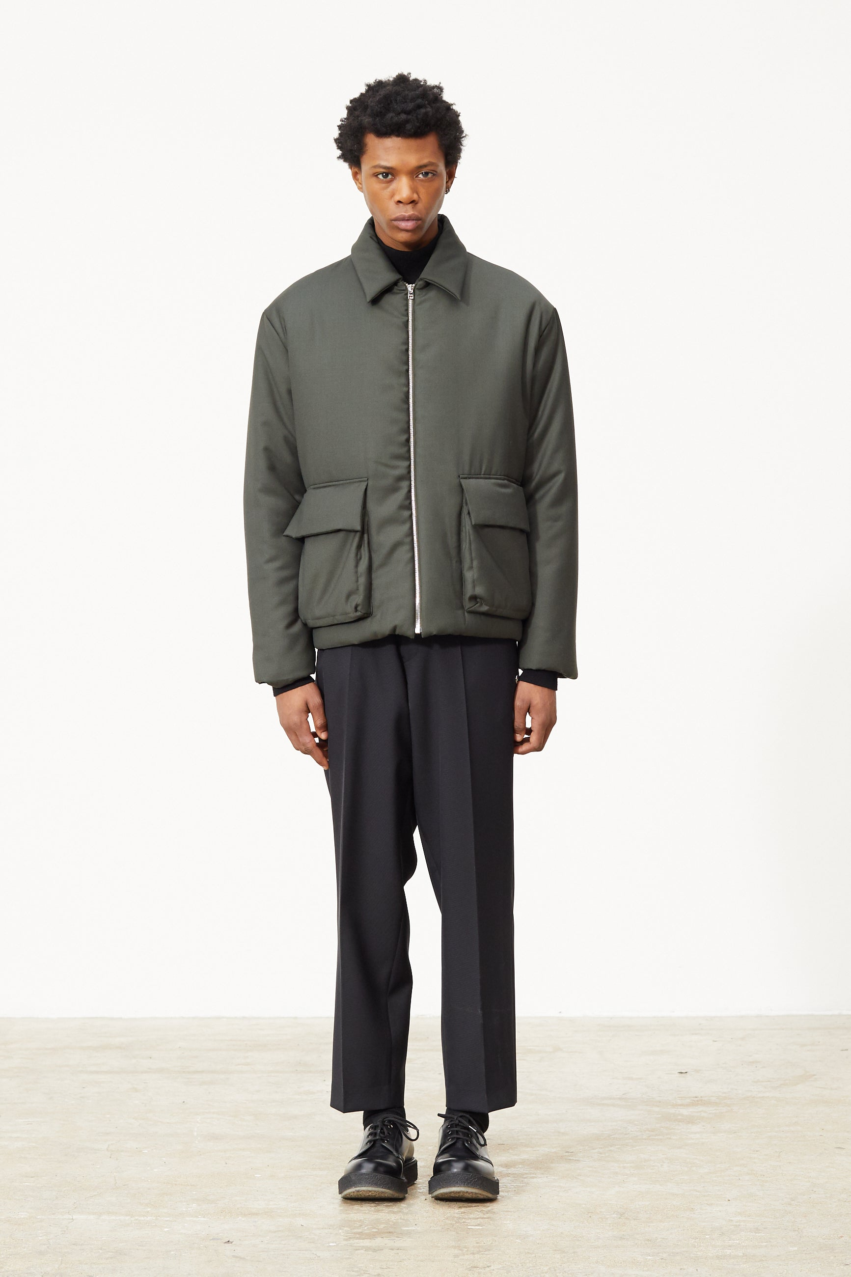 Études Orion Padded Army Green Jacket 1