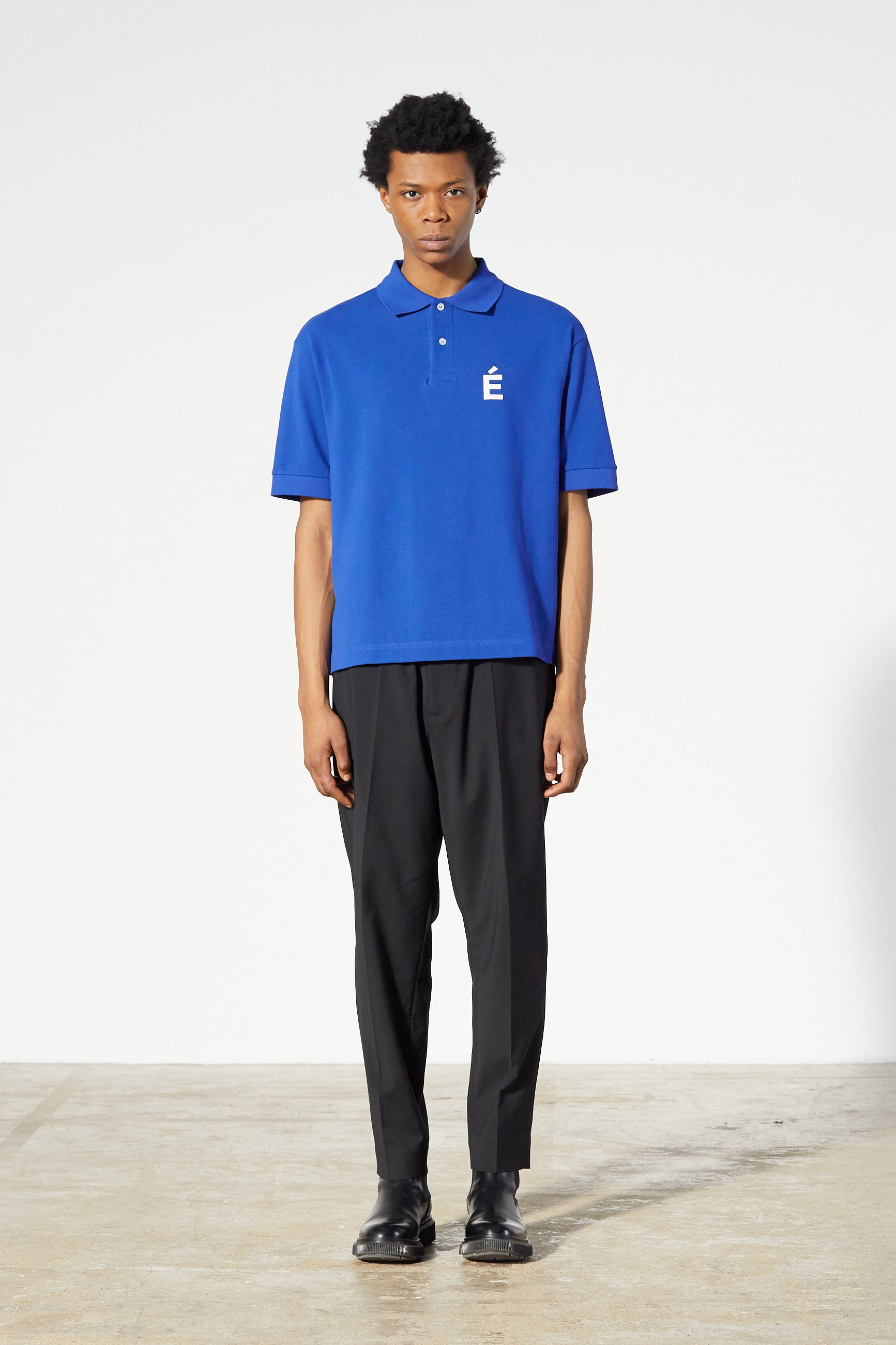 Études Polo Patch Blue T-shirt 1
