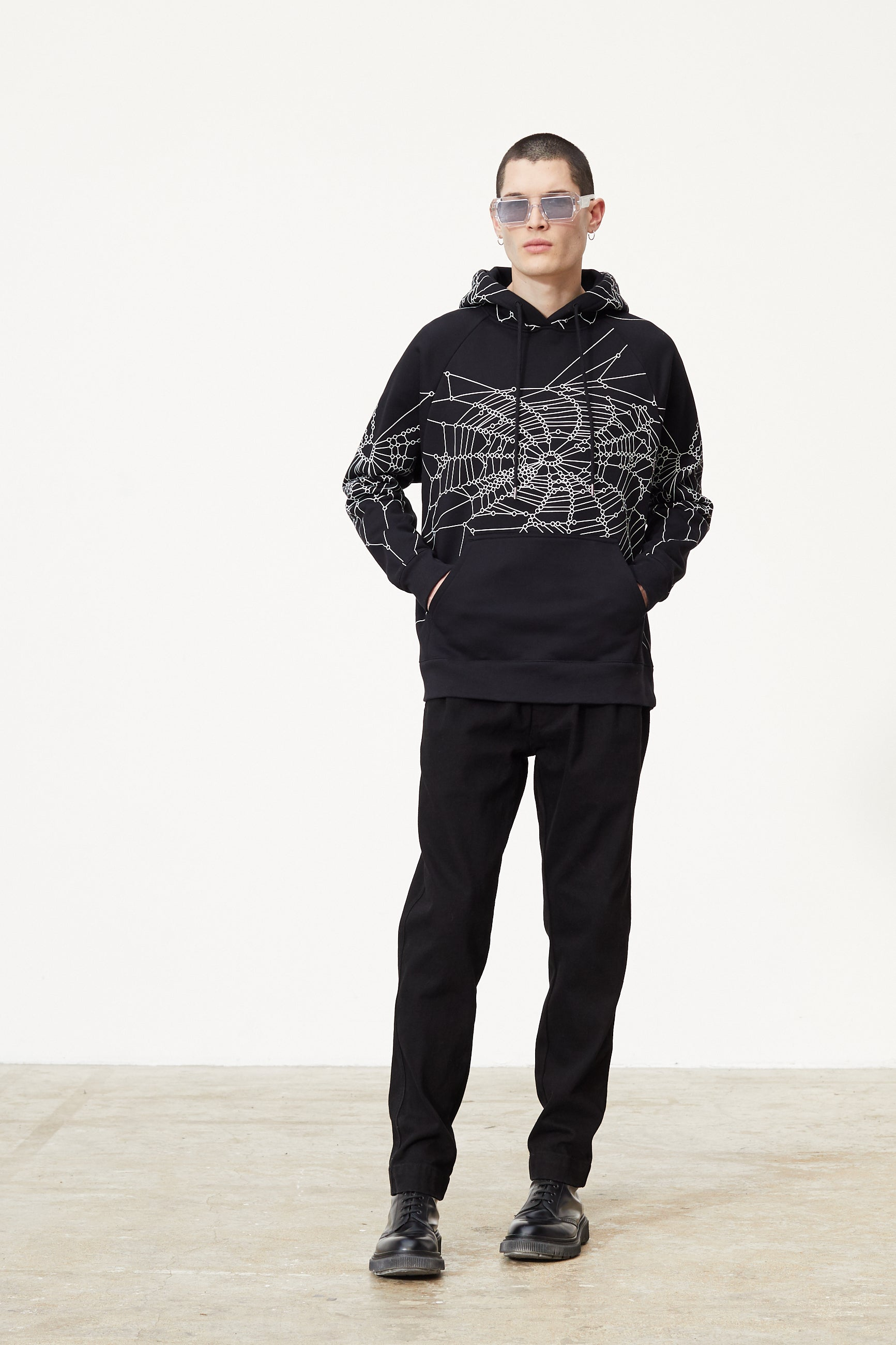 Études Racing Hood Spider Web Black Sweatshirt 3