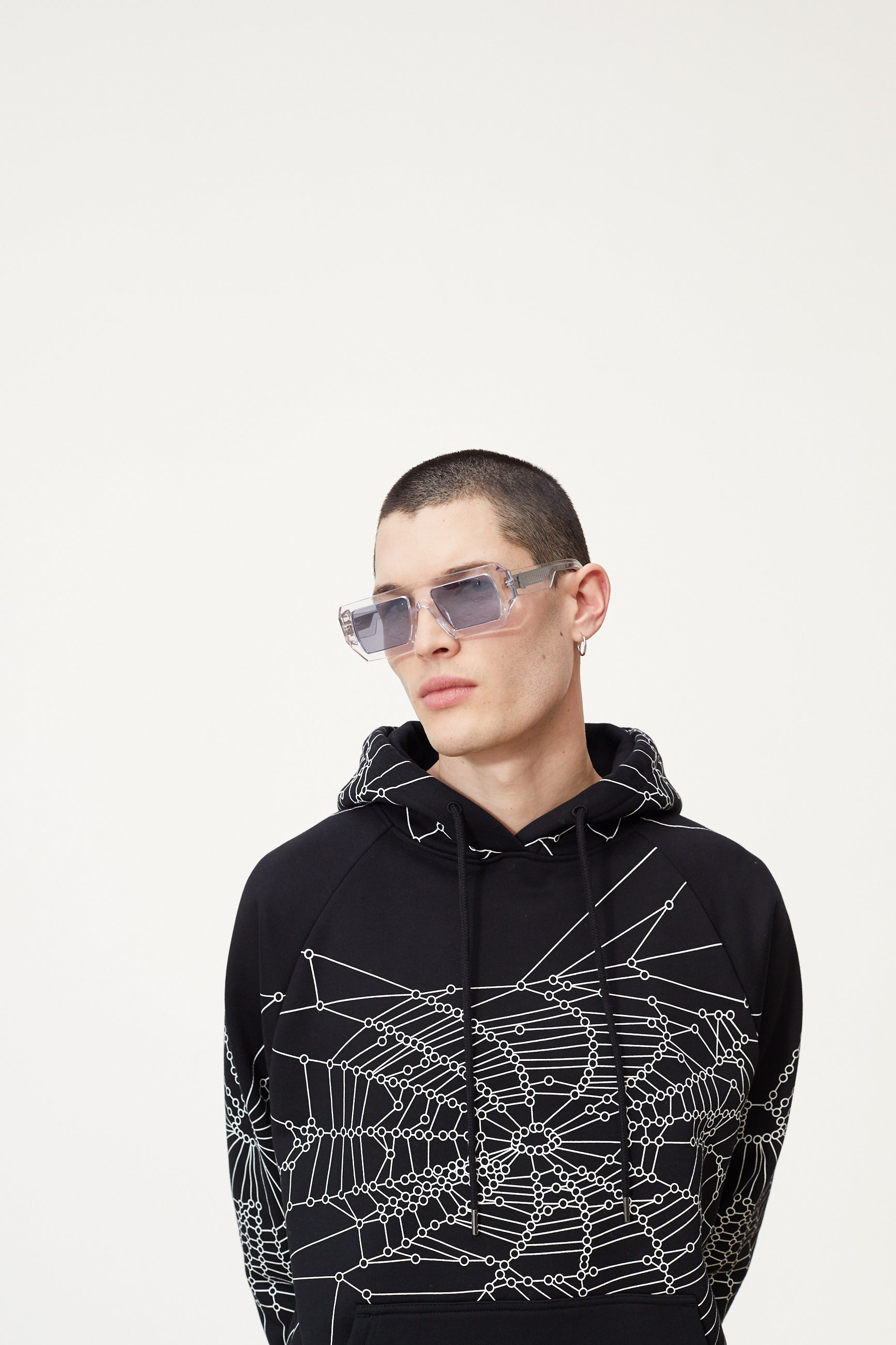 Études Racing Hood Spider Web Black Sweatshirt 4