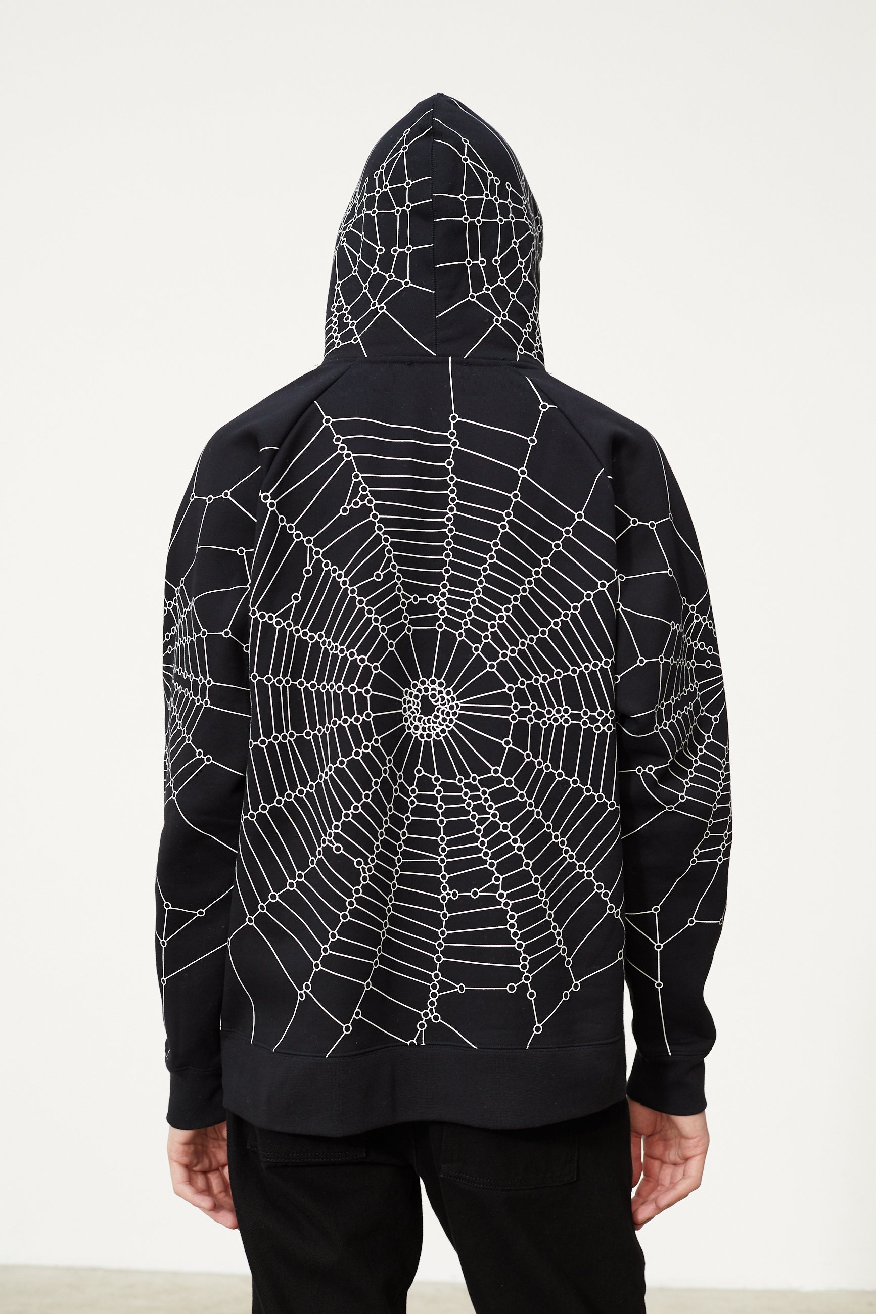 Études Racing Hood Spider Web Black Sweatshirt 5