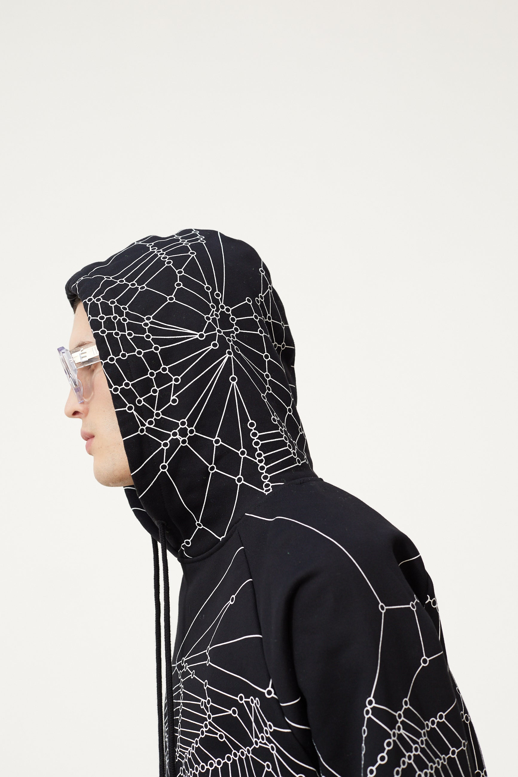 Études Racing Hood Spider Web Black Sweatshirt 6