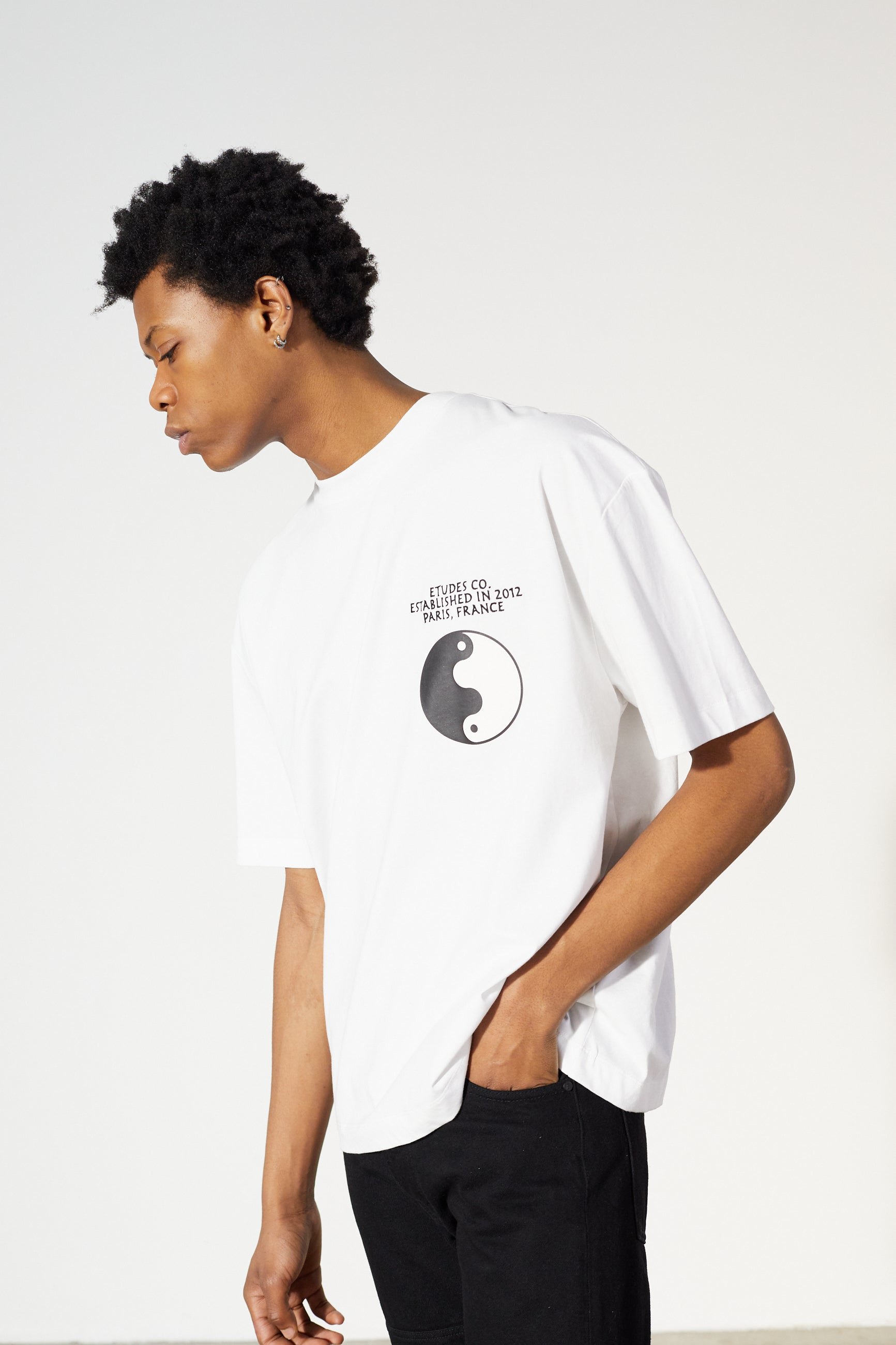 Études Spirit Circle White T-shirt 4