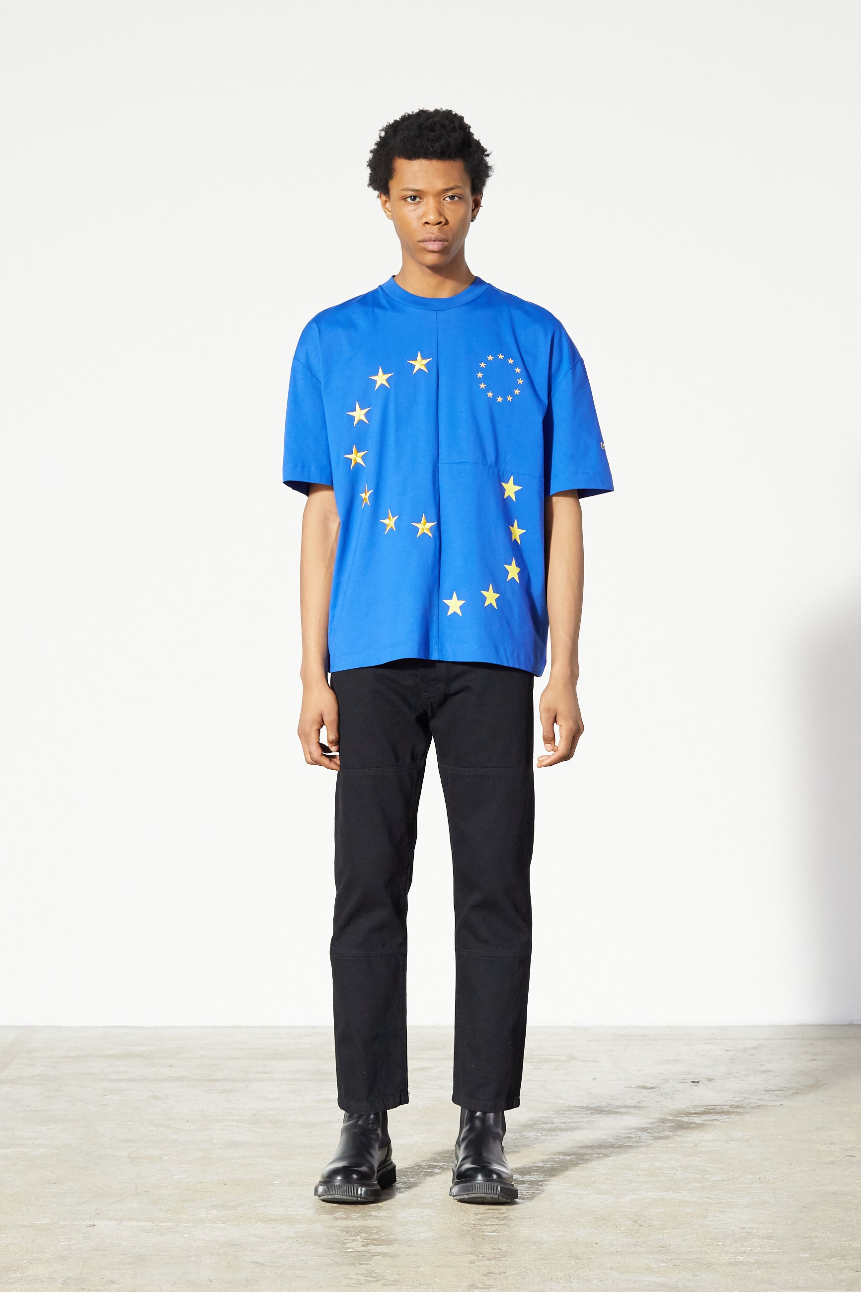 Études Spirit Cut-Up Europa Blue T-shirt 1