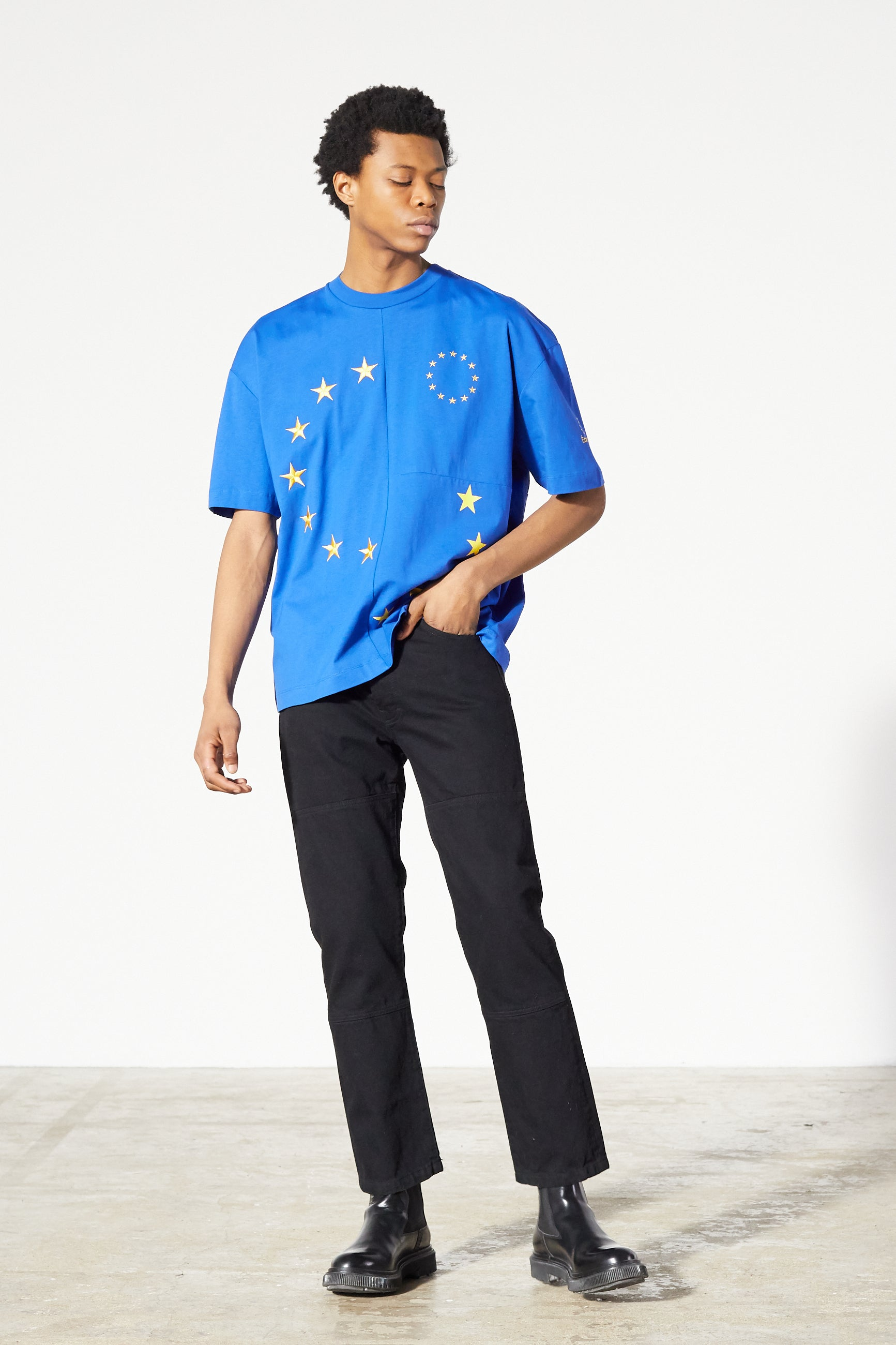 Études Spirit Cut-Up Europa Blue T-shirt 3