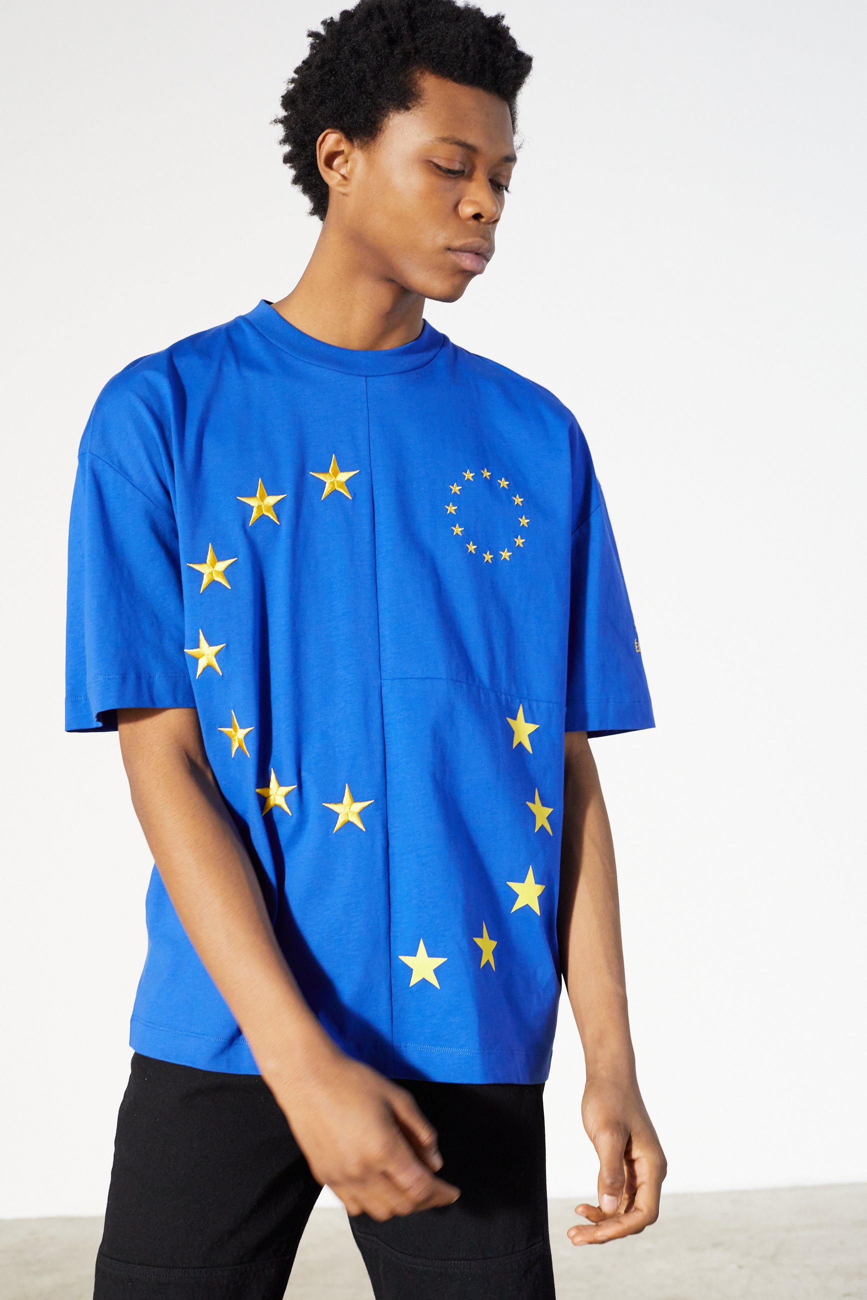 Études Spirit Cut-Up Europa Blue T-shirt 4