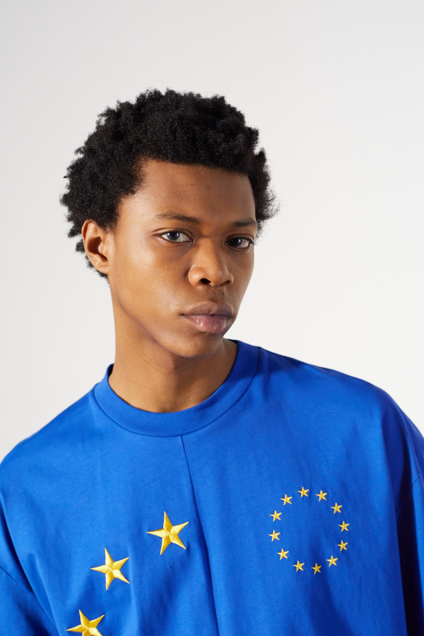 Études Spirit Cut-Up Europa Blue T-shirt 5