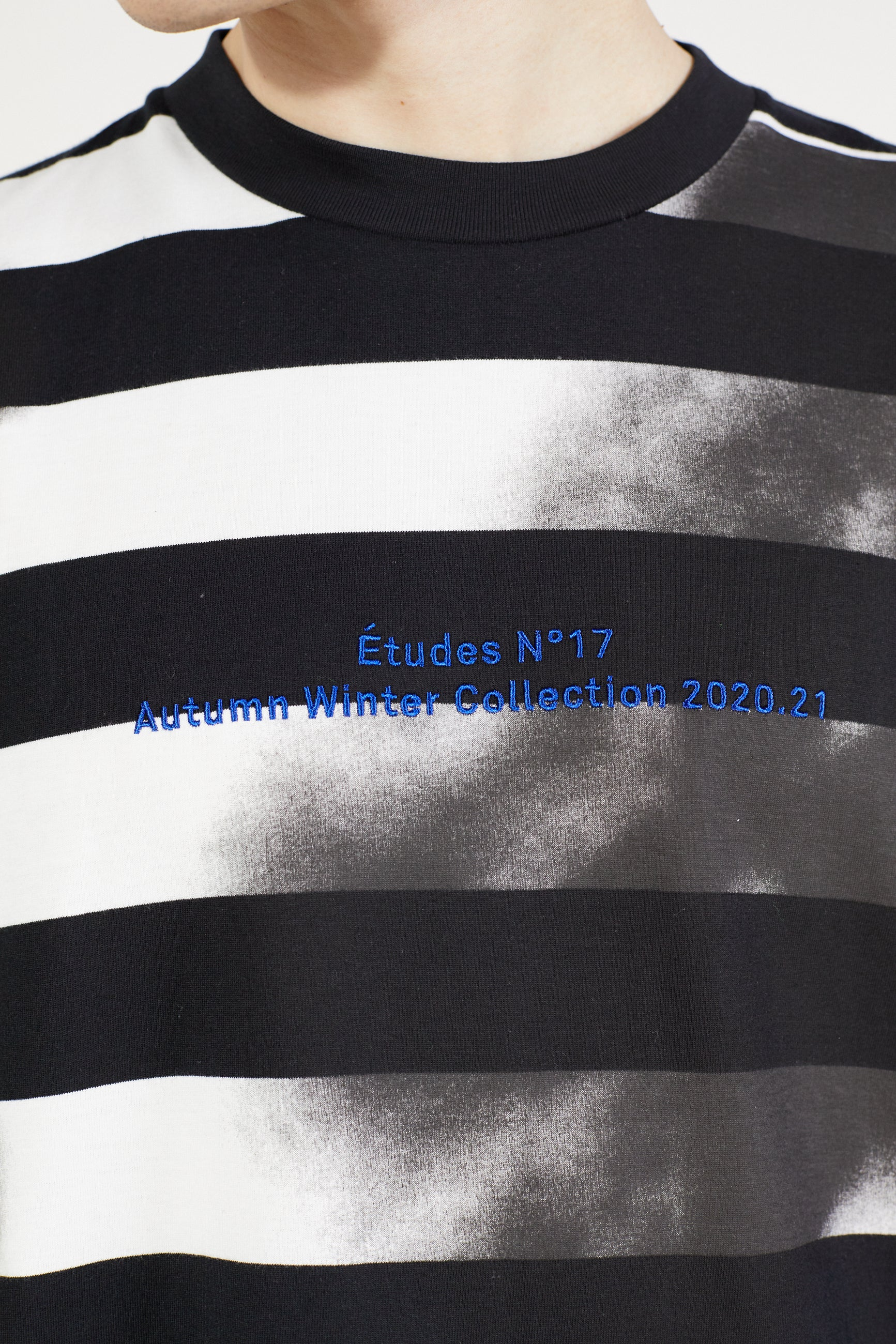 Études Spirit LS Spray Black & White T-shirt 4