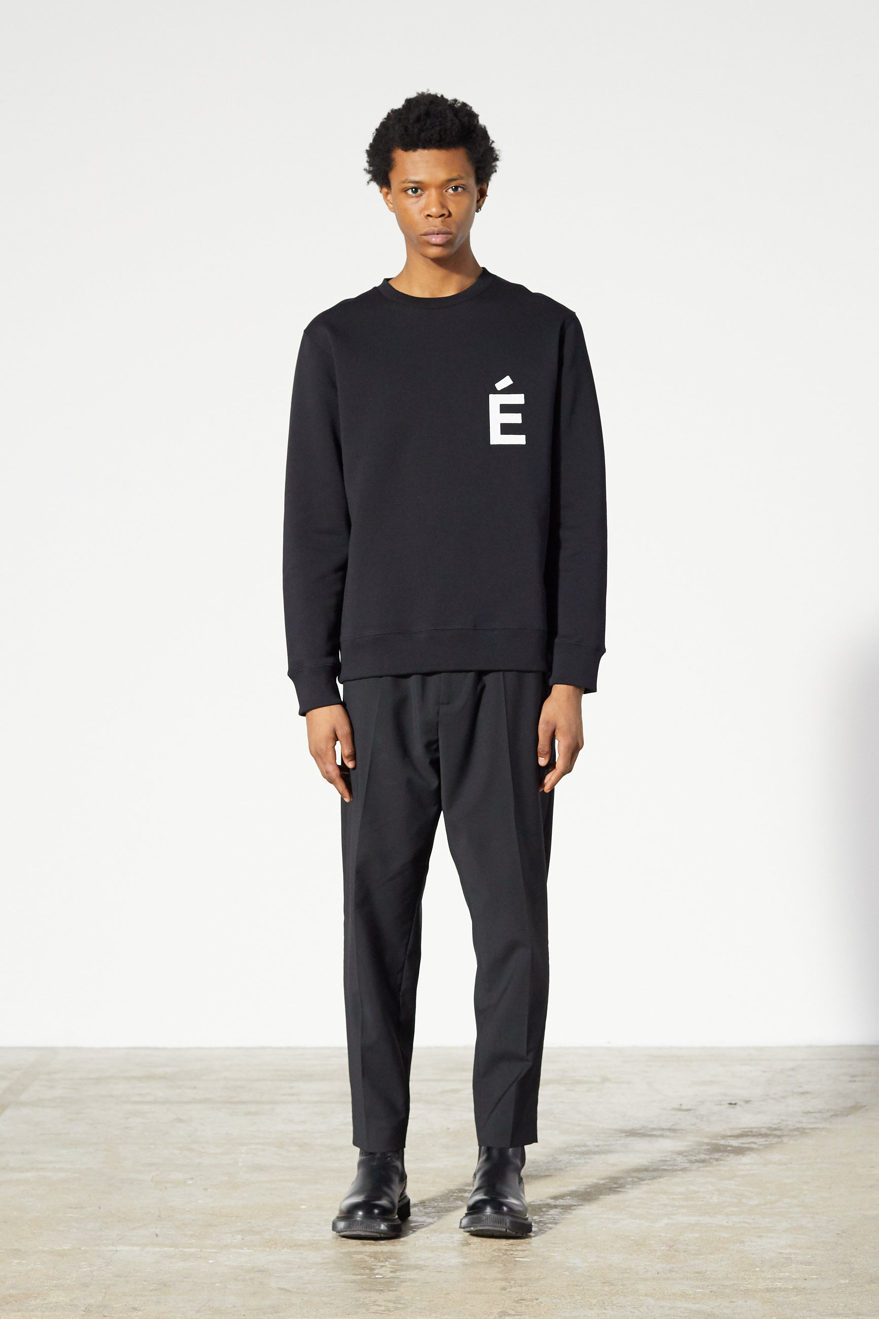 Études Story Patch Black Sweatshirt 1