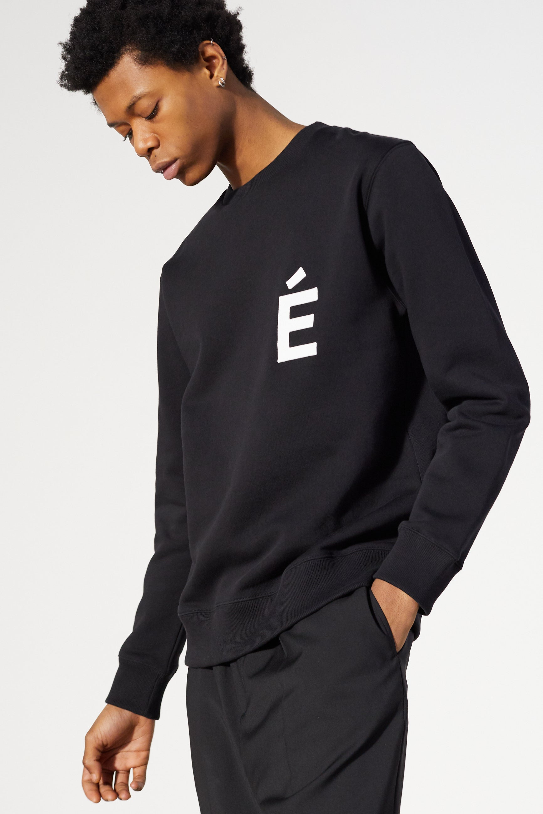 Études Story Patch Black Sweatshirt 4