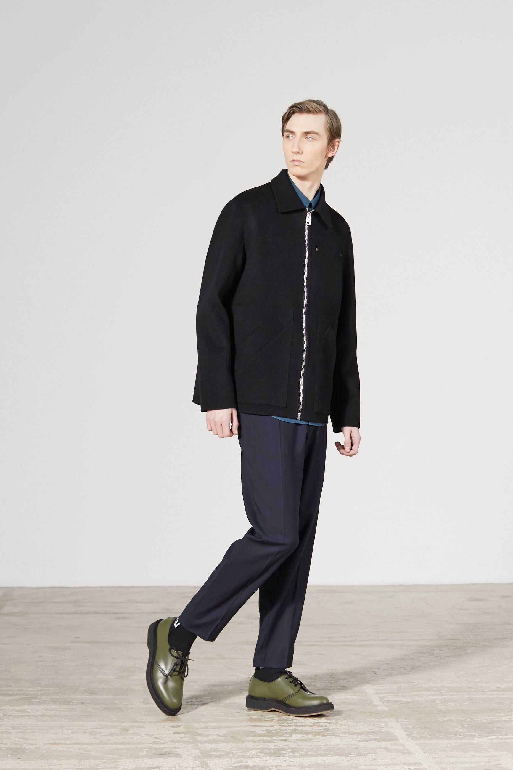 STRUCTURE CASHMERE BLACK JACKET