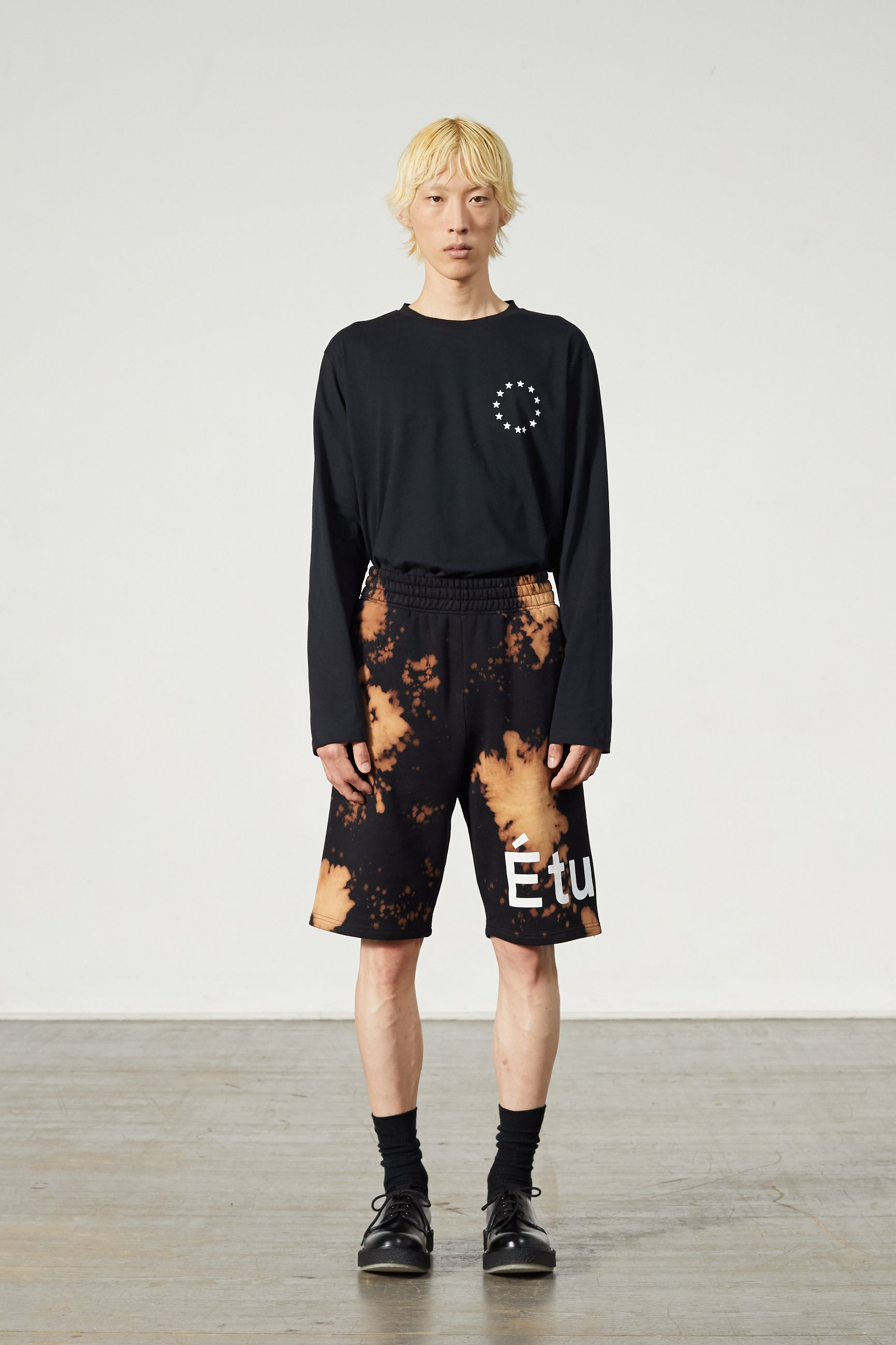 TEMPERA SHORTS ETUDES BLACK BLEACHED