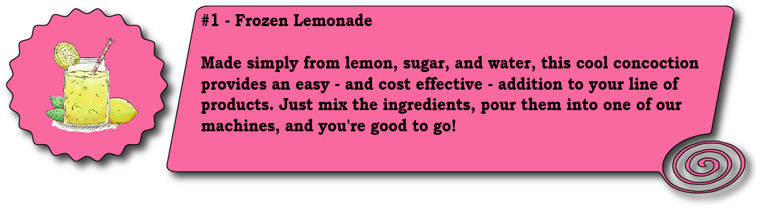 Frozen Lemonade Infographic Frozen Beverage Machine Blog Slices Concession