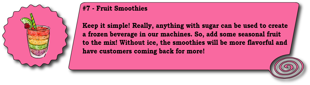 Frozen Fruit Smoothie Infographic Frozen Beverage Machine Blog Slices Concession