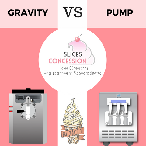 Slices Concession Gravity VS Pump Ice Cream Machine Information Blog