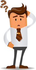 businessman with brown tie asking questions