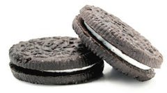 cookies and cream chocolate wafer sandwhich cookies with creamy white center
