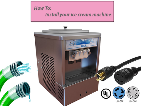 taylor soft serve machine with water hose thre phase electrical wires and