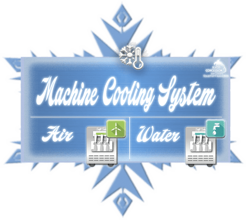 machine cooling system plaque ontop of snowflake with air and water cooled taylor soft serve ice cream frozen yogurt machines
