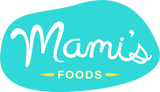 Mami's Foods logo with bright blue and yellow colors