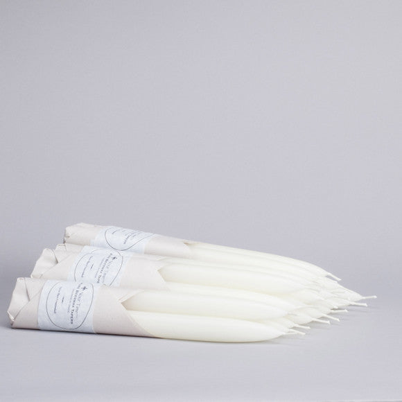 Beeswax Taper Candles - Ivory White