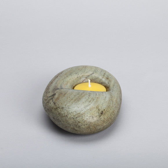 Stone Candle Holder ps15