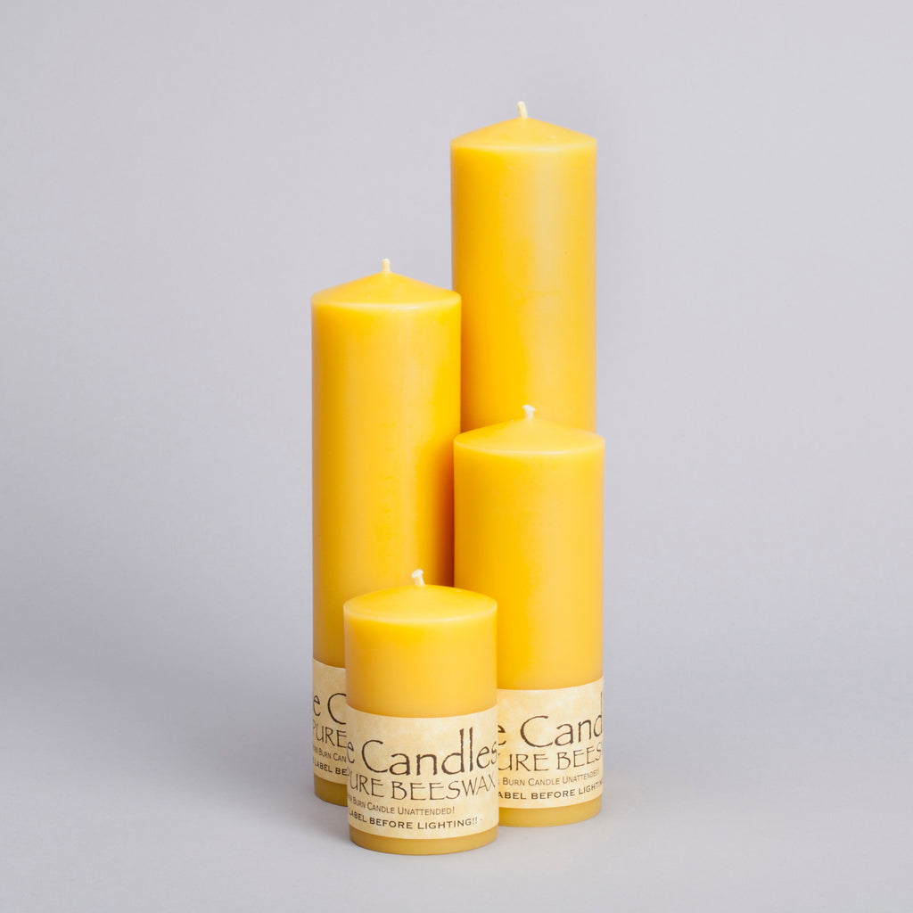 Beeswax 2 inch Pillar Candles