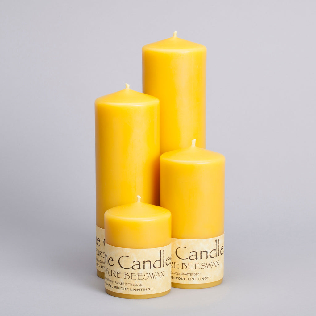 Beeswax 2.5 inch Pillar Candles