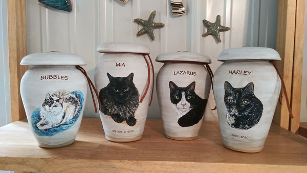 Custom Cat Image Urns