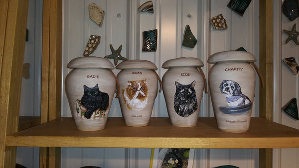 Malloryville Pottery Pet urns
