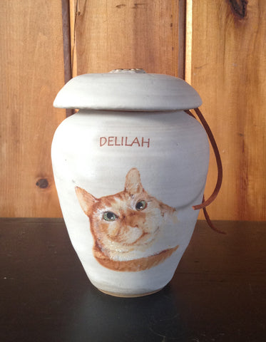 Delilah Custom Cat Urn
