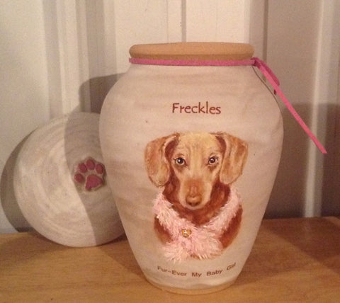 Custom Small Dog Image Urn