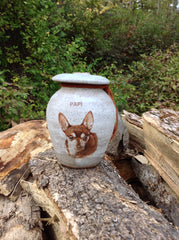 Pet Urn by Malloryville Pottery