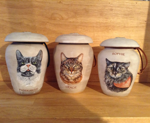 custom cat photo urn
