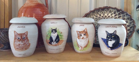 Pet Portrait Cremation Urns