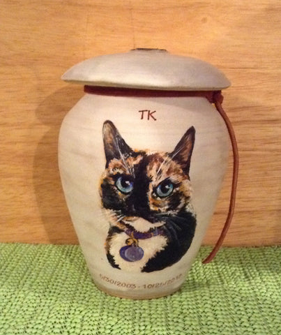 Malloryville Pottery pet urns also on Etsy