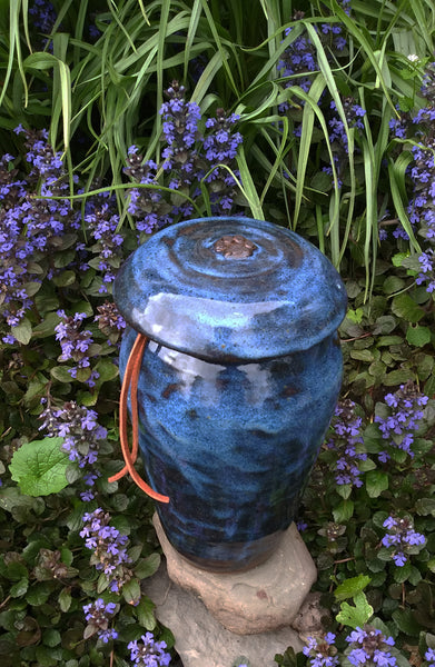 """Blue Heaven"" Large Dog Urn for Pet Cremains"