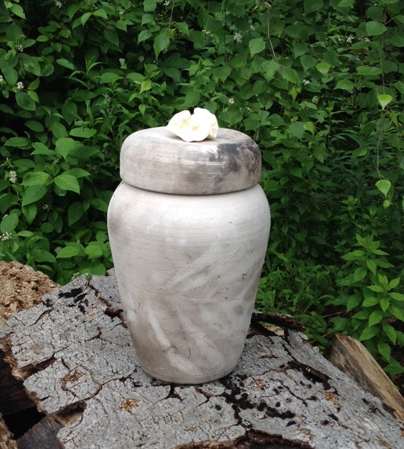 Wood Fired Spirit Urn for Cremains of Medium Sized Dog
