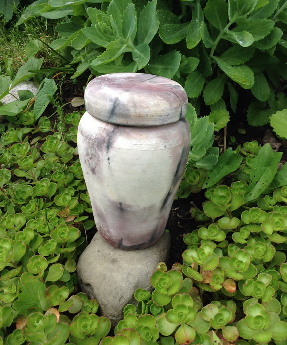 Medium Dog Urn for Ashes Wood Fired Spirit Urn