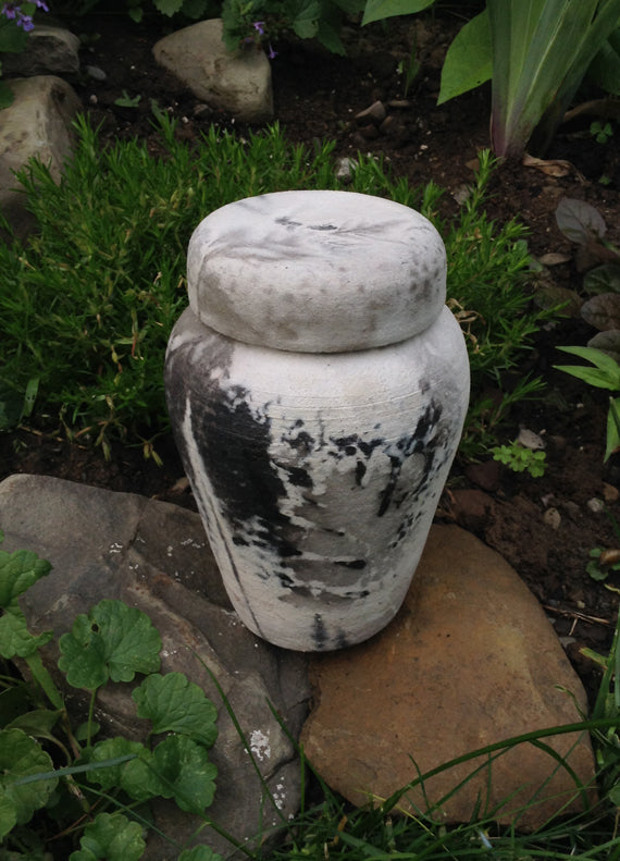 Pet Spirit Raku Urn for Cremains of Medium Sized Dog