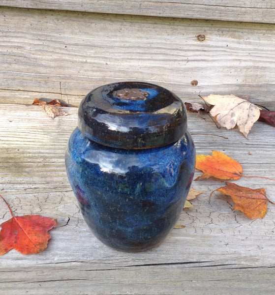 """Blue Heaven"" Cat Urn or Small Dog Urn"