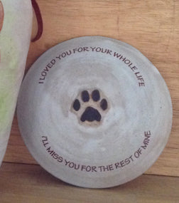 Pet Loss Quote on Lid, an UPGRADE for Custom Cat or Small Dog Urn - (Urn NOT included)