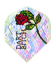 DART FLIGHTS 2D GLITTER ROSE