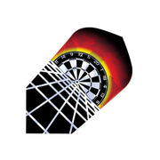 DART FLIGHTS 2D GLITTER DARTBOARD