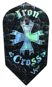 DART FLIGHTS IRON CROSS GLITTER