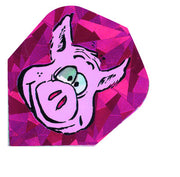 DART FLIGHTS PIGS GLITTER