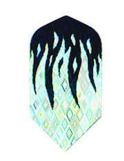 DART FLIGHTS FLAMES GLITTER