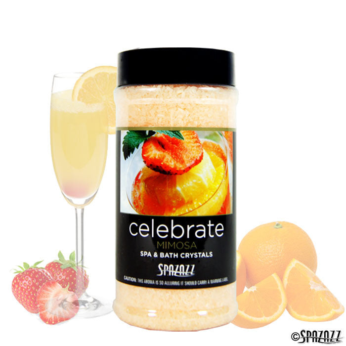 Spazazz Mood Crystals Celebrate Mimosa 17 Ounces