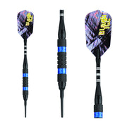 BLACK ICE SOFT TIP DART SET BLUE