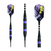 BLACK ICE SOFT TIP DART SET PURPLE